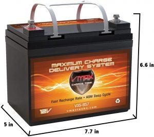 VMAXTANKS VMAX V35-857 12 Volt 35AH AGM Battery Marine Deep Cycle